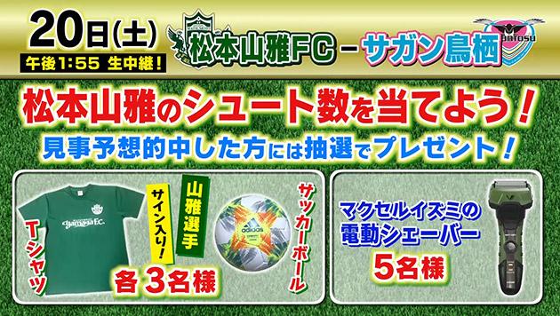 松本山雅全緑応援プレゼントキャンペーン!