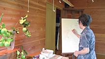 野村陽子植物細密画館開館10周年記念「花は自然に生きている」