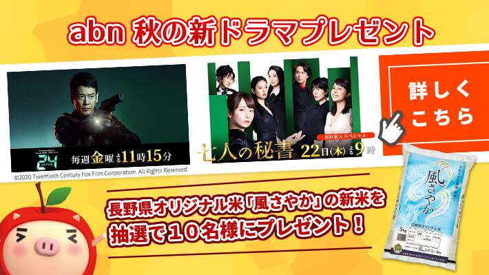 abn秋の新ドラマ 新米プレゼント(24 JAPAN・七人の秘書)