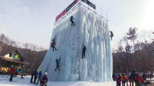 もっと!信州77「川上村編」| 岩根山荘 アイスクライミング体験