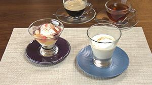 ランチコース / そば茶のブランマンジェ 栗のピューレとミルクの泡 そば米のパウダー(フフレキッチン)