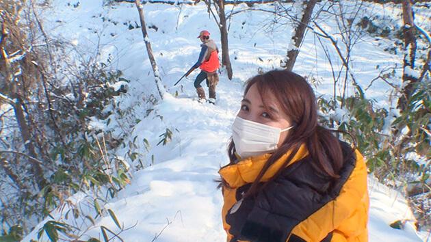 大槻アナ・ママさん猟師に1日密着 冬の北信濃を体感!火祭りがない野沢温泉村 ベテラン&ママさんハンターに密着