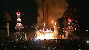 野沢温泉で命をつなぐ男と女! 火祭りと伝説の酒宴復活!