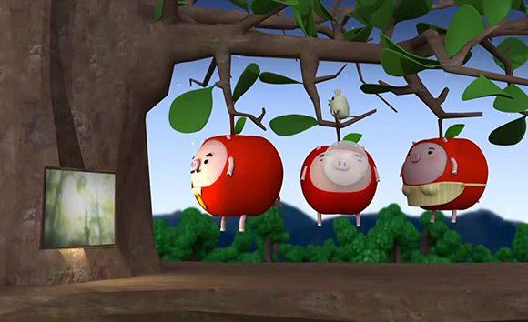りんご丸ムービー (鼻ふうせん編)