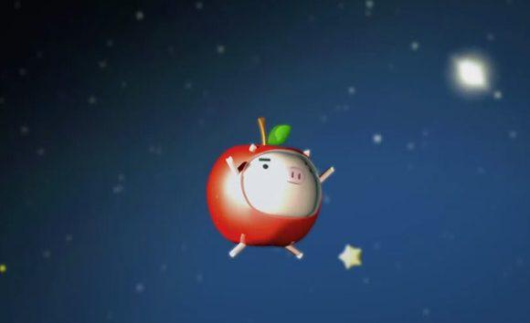りんご丸ムービー (オープニング夜の宇宙編)