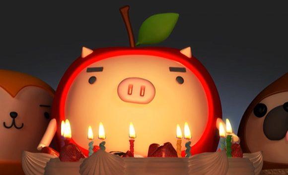 りんご丸ムービー (25周年ケーキ編)