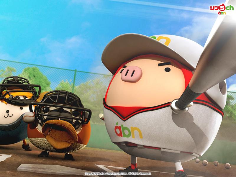 りんご丸壁紙(スポーツシリーズ・野球)