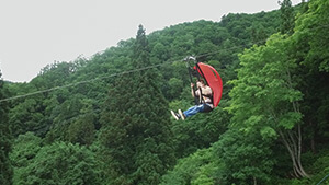 野沢温泉ジップスカイライド|夏を遊びつくせ!長野&新潟 山と海
