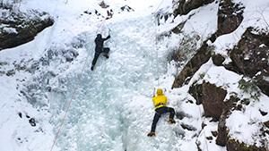 夏沢鉱泉アイスクライミング(茅野市)|シリーズ 信州の美 冬の芸術