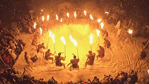 大網の火祭り(小谷村)|シリーズ 信州の美 冬の芸術