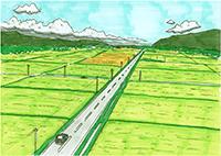 大町の田園風景(番組未公開)