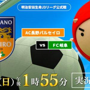サッカーJ3リーグ AC長野パルセイロ × FC岐阜(2020年12月13日 日曜 午後1時55分)