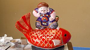 京都伏見 土人形から受け継ぐ 奈良家人形作り 春を告げる 中野土人形