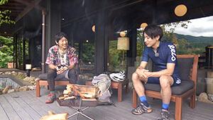 焚火を囲んで世界一周旅のエピソードを聞く 自転車で世界一周!冒険家 小口良平