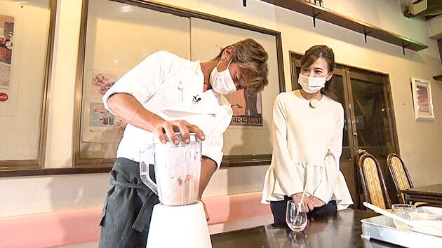 リンゴを使った「食べるスムージー」・キャステロ ドラゴーネ 須坂はまさにフルーツ天国