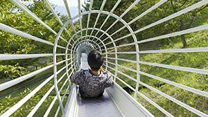 長野市 地附山公園 ローラー滑り台|里山トレッキング!長野市は山城の宝庫