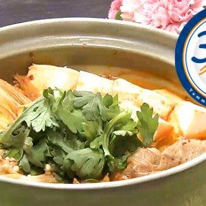 豚と豆腐のキムチ鍋(1月29日 水曜 よる6時55分)