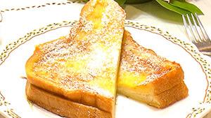 クリームチーズサンドのフレンチトースト