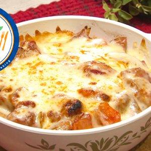 鶏肉と根菜のトマトグラタン(10月21日 水曜 よる6時55分)