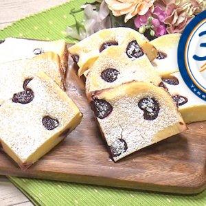 チェリーとホワイトチョコのチーズケーキ(2月24日 水曜 よる6時55分)