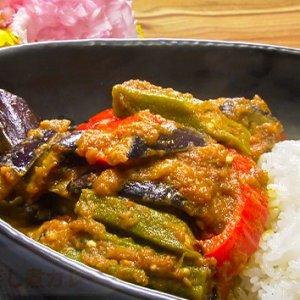 夏野菜の蒸し煮カレー(8月25日 水曜 よる6時55分)