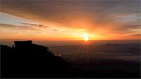 赤岳頂上 日の出