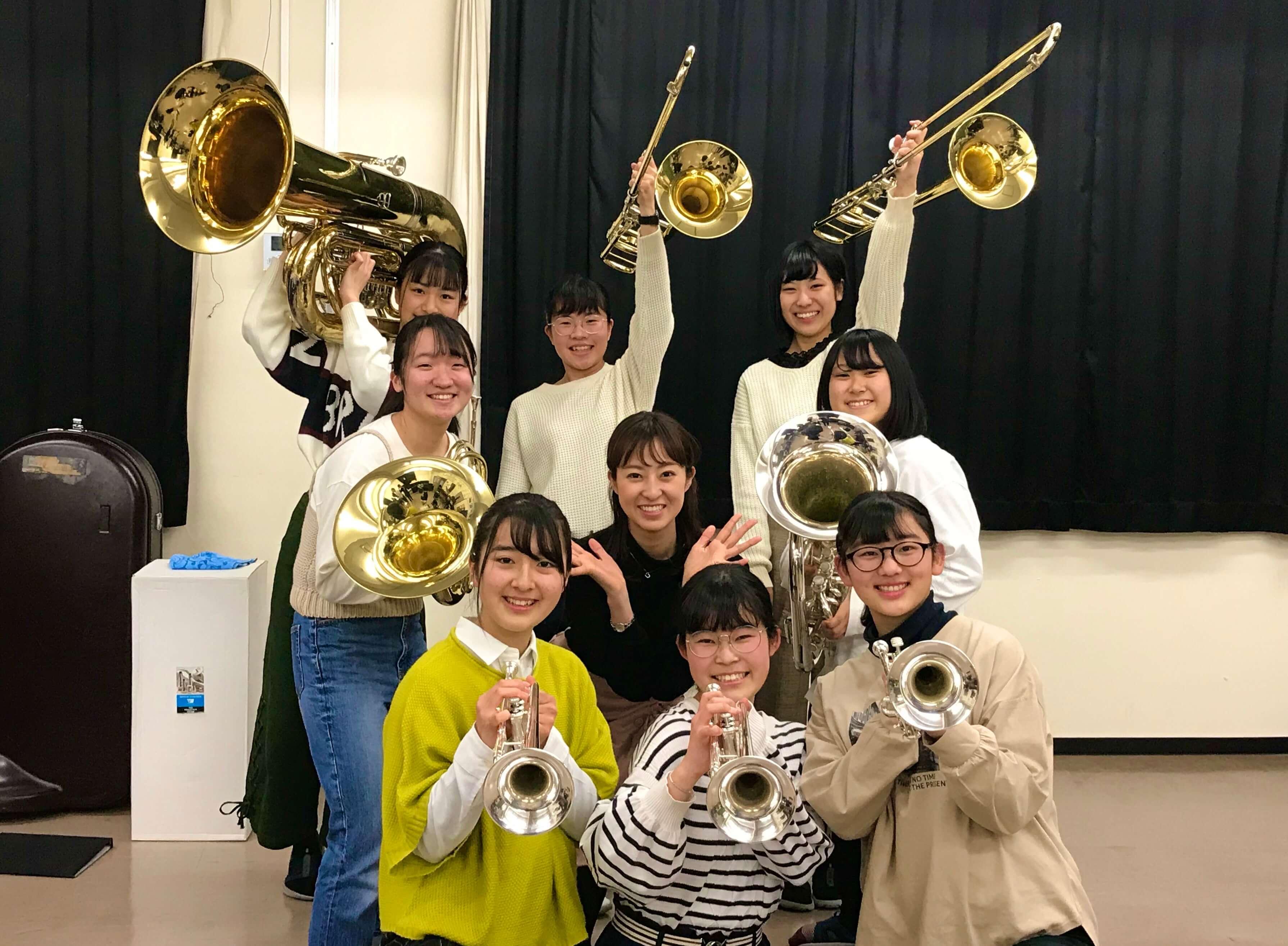 長野東高校吹奏楽部♪金管八重奏