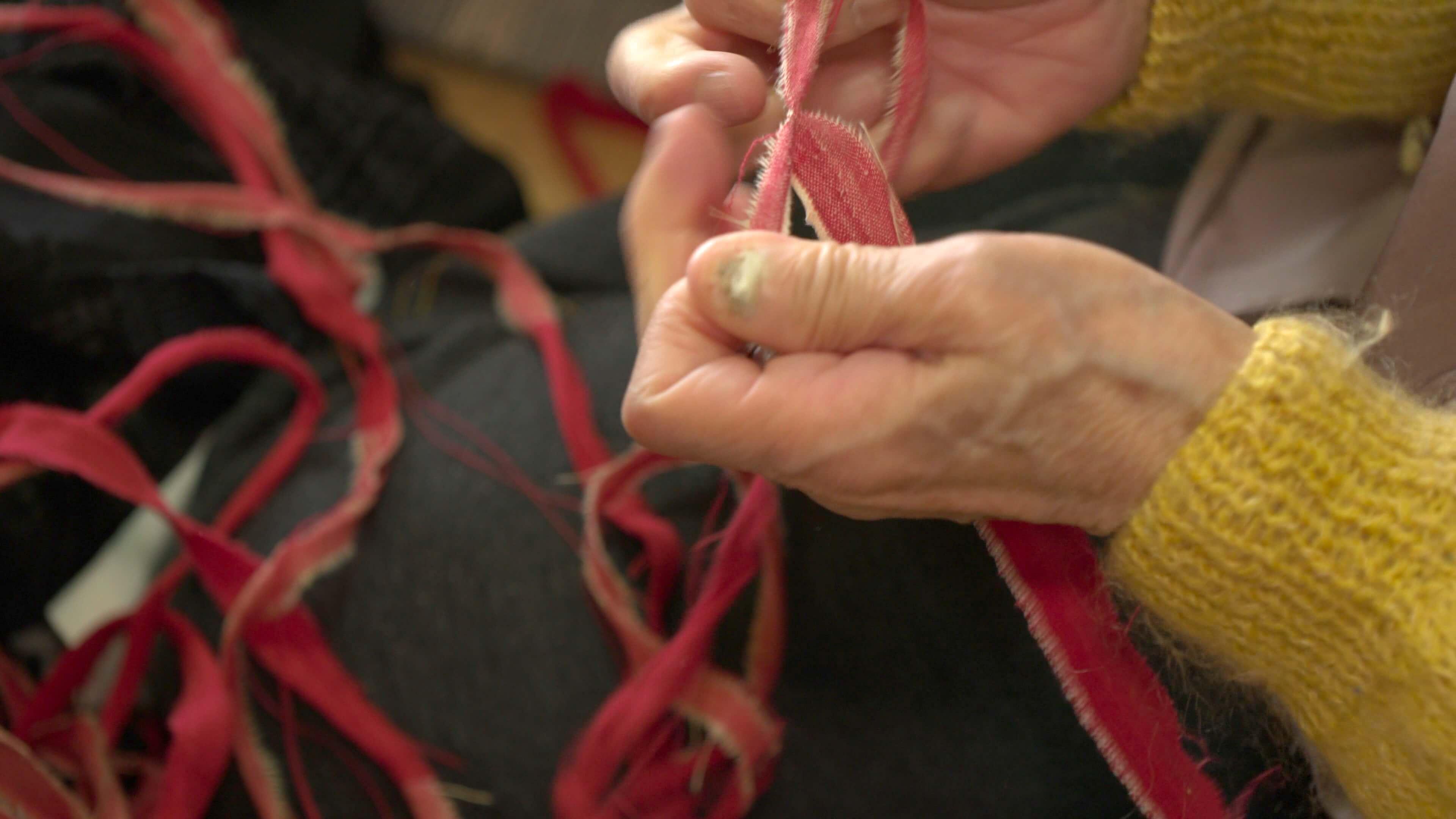 小谷村の『ぼろ織り』文化