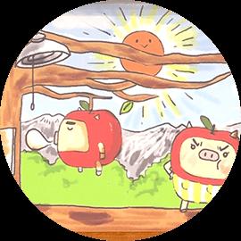 早起きはエコだ!|りんご丸の紙芝居(大槻アナ 読み聞かせ)